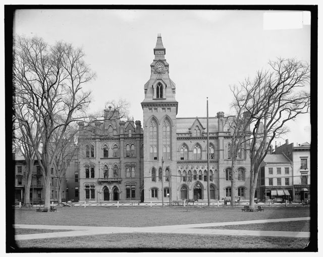 [City hall & county court house, New Haven, Conn.]