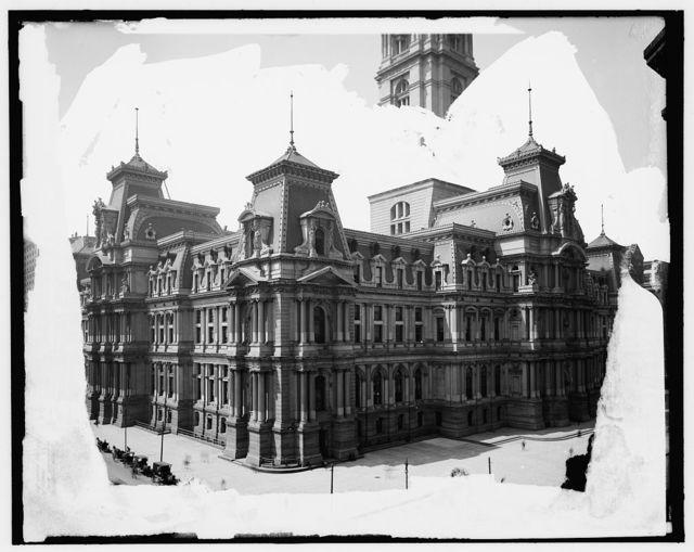 [City Hall, lower section, Philadelphia, Pa.]