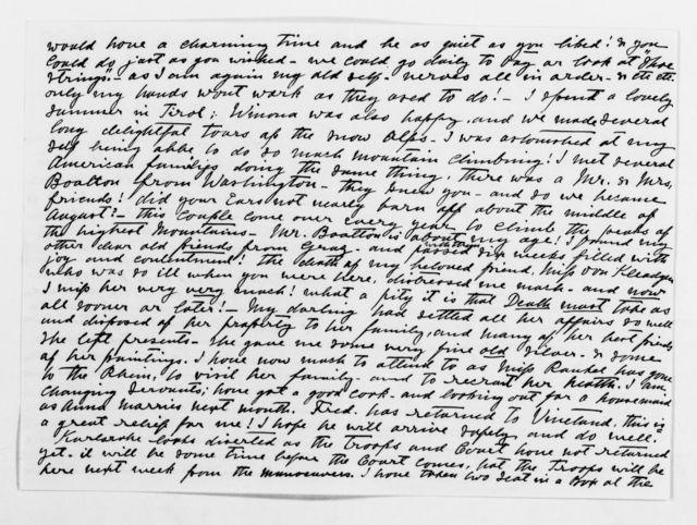 Clara Barton Papers: General Correspondence, 1838-1912; Salm Salm, Agnes, 1900-1903, undated