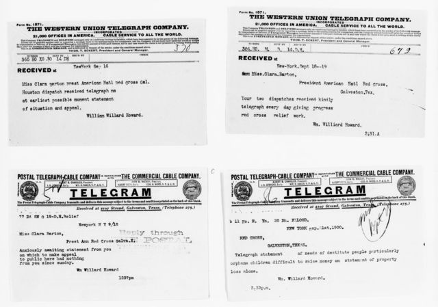 Clara Barton Papers: Red Cross File, 1863-1957; American National Red Cross, 1878-1957; Relief operations; Galveston, Tex.; Texas Relief Fund, 1900-1901, undated