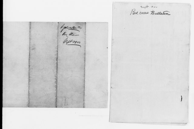 Clara Barton Papers: Red Cross File, 1863-1957; American National Red Cross, 1878-1957; Relief operations; Galveston, Tex.; Miscellany, 1900-1901, undated