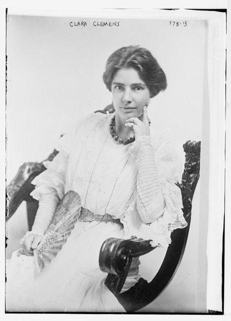 Clara Clemens, seated