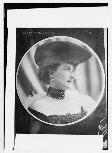 Clementine of Belgium, round-frame portrait