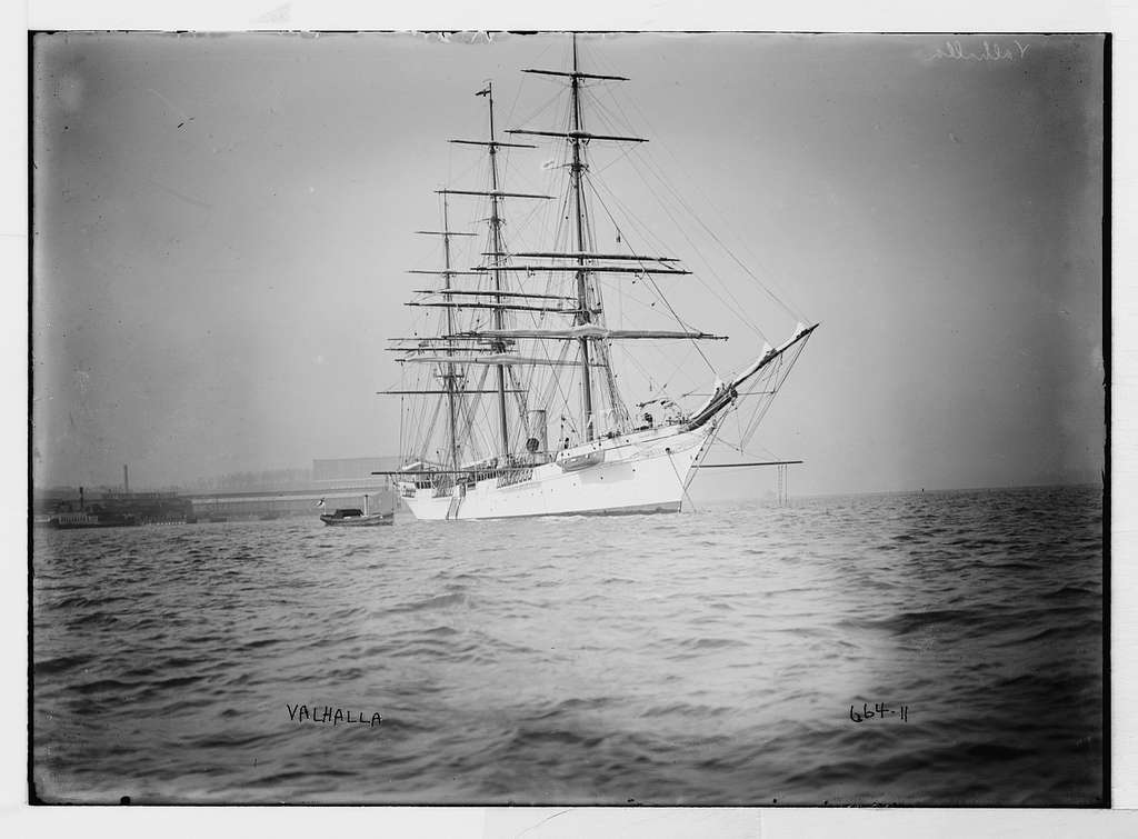 "Clipper ship ""Valhalla"" on water"