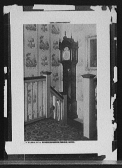 Clock, 1770, Ropes Mansion, Salem, Mass.