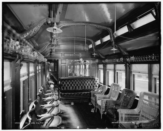 Club car, D.L. & W. R.R. [Delaware, Lackawanna and Western Railroad]