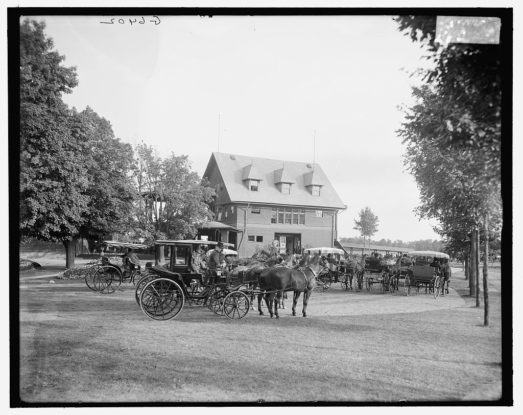 [Club house at the race track, Saratoga Springs, N.Y.]