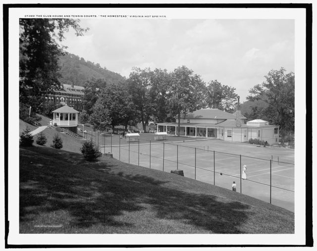 Clubhouse and tennis courts, the Homestead, Virginia Hot Springs