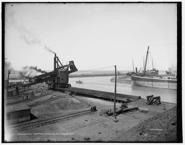 Coal dumping machine, Ashtabula, Ohio