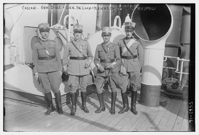Cocconi, Gen. Diaz, Gen. M. DeLuca - Kennedy, Prince Ruspoli