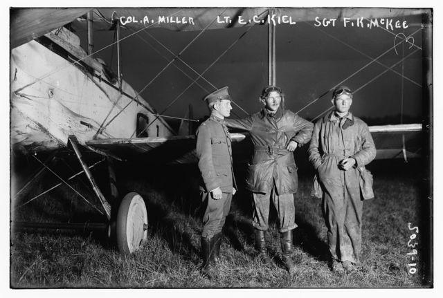 Col. A. Miller, Lt. E.C. Kiel, Sgt. F.K. McKee