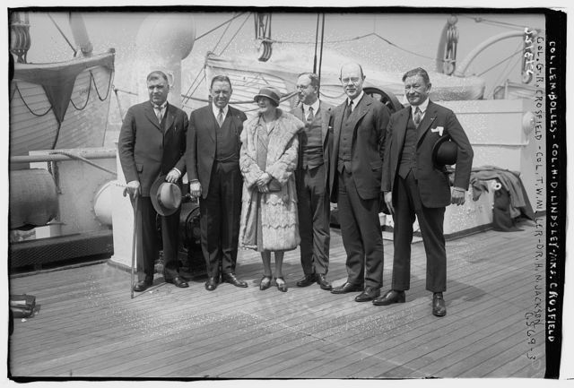 Col. Lem. Bolles, Col. H.D. Lindsley, Mrs. Crosfield, Col. G.R. Crosfield, Col. T.W. Miller, Dr. H.N. Jackson