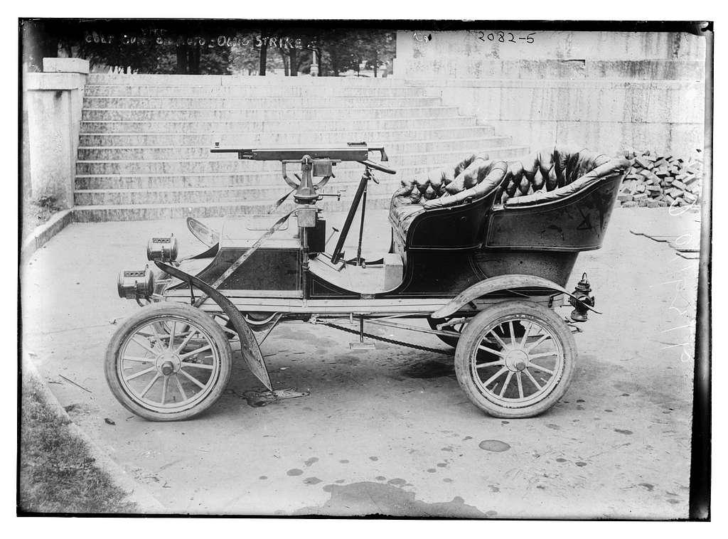 Colt gun on auto, Ohio strike