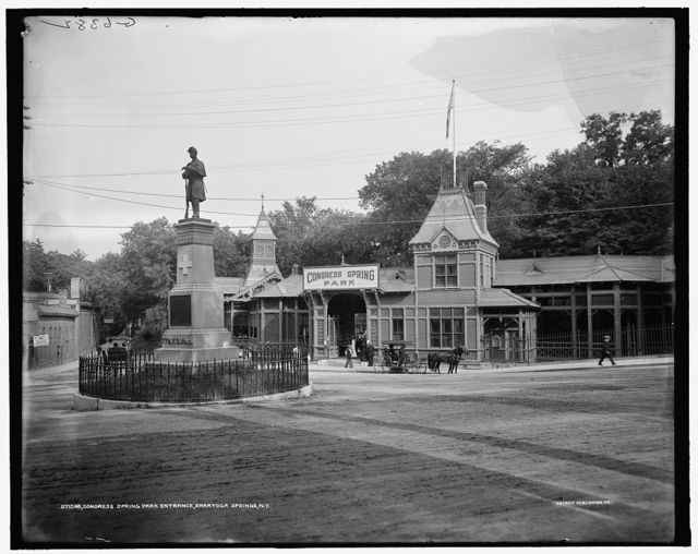 Congress Spring Park entrance, Saratoga Springs, N.Y.