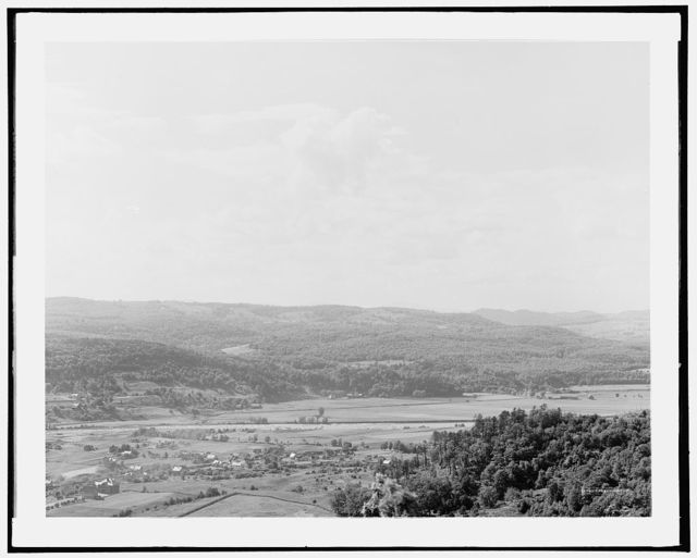 Conn. [i.e. Connecticut River] Valley at Bellows Falls, N.W. from Fall Mt.