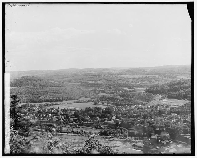 Conn. [i.e. Connecticut River] Valley at Bellows Falls, S.W. from Fall Mt.