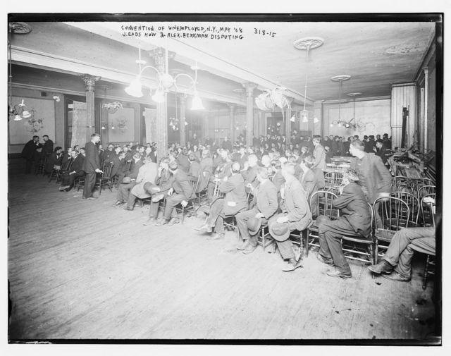 Convention of Unemployed, N.Y.: J.E. How & Alex. Berkman dispute