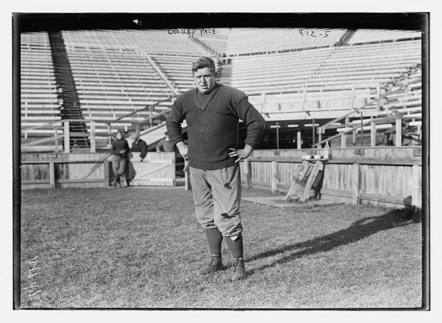 Cooney, of Yale, on playing field, New Haven, Conn.