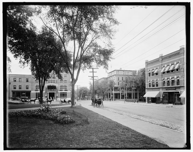 [Corner of Main and St. Paul's, Burlington, Vt.]