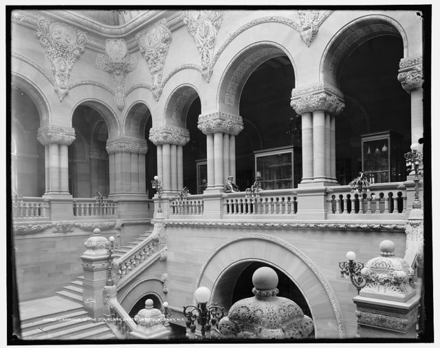 Corridor of the staircase, State Capitol, Albany, N.Y.