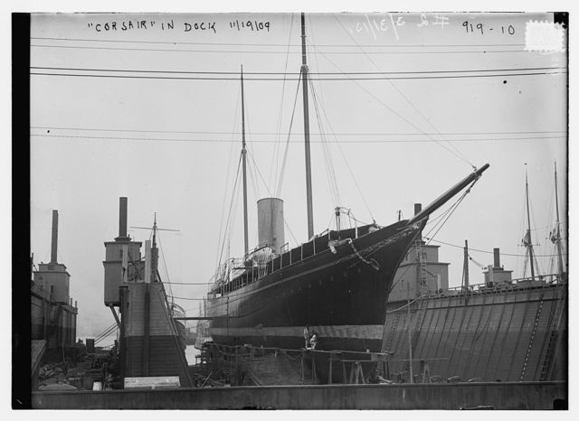 Corsair in dock