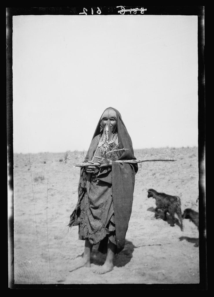 Costumes, characters, etc. Bedouin shepherdess, Beersheba