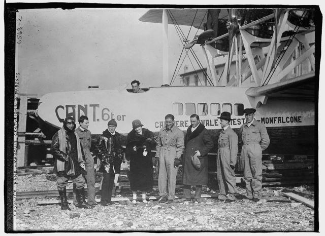 Cosulich plane -- Marquis Centurione & parents