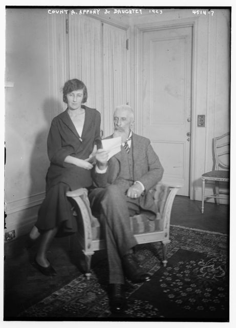 Count A. Appony [i.e. Apponyi] & daughter