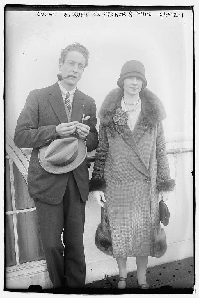 Count B. Kuhn De Prorok & wife