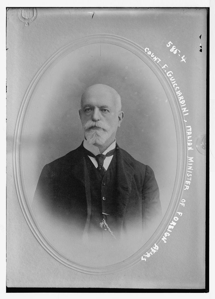 Count F. Guicciardini, Italian Minister of Foreign Affairs, cameo portrait