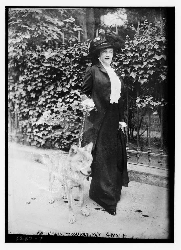 Countess Troubetskoy & Fang the wolf