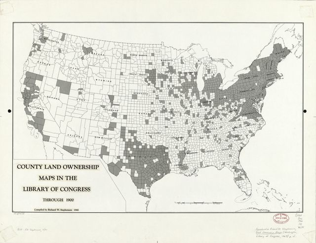 County land ownership maps in the Library of Congress through 1900 /