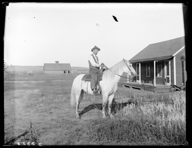 Cowboy on Carver Ranch near Pullman, Nebraska.