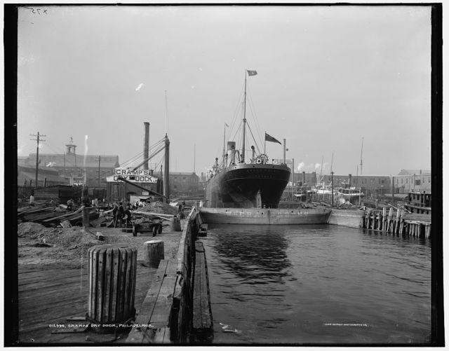 Cramp's dry dock, Philadelphia