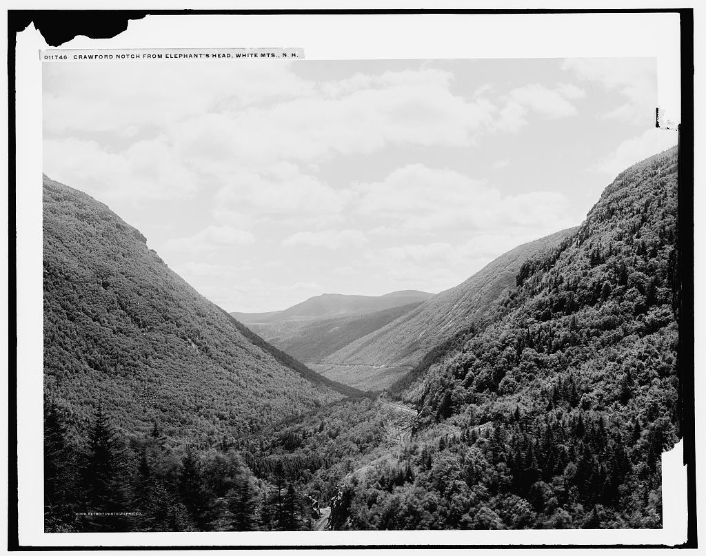 Crawford Notch from Elephant's Head, White Mts., N.H.