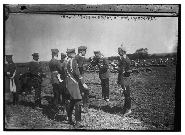 Crown Prince Germany at war manouvres