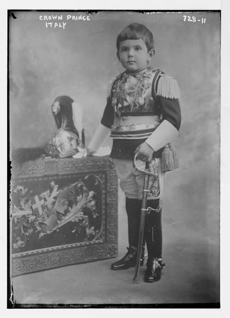 Crown Prince of Italy, in uniform