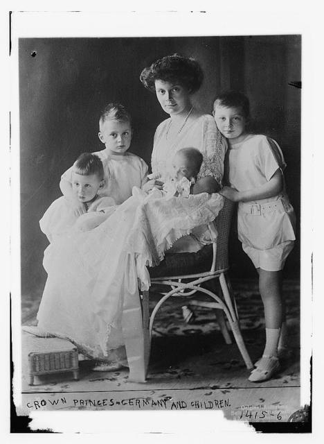 Crown Princess of Germany and her children