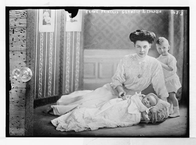 Crown Princess of Germany and her two children