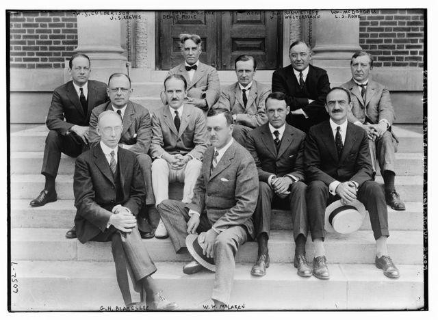 Culbertson, Reeves, Meeker, Poole, Kerr, Bakhmetieff, Westermann, McDougal, Rowe, Blakeslee, and McLaren