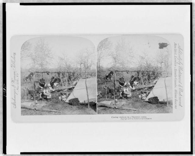Curing venison in a Shawnee camp