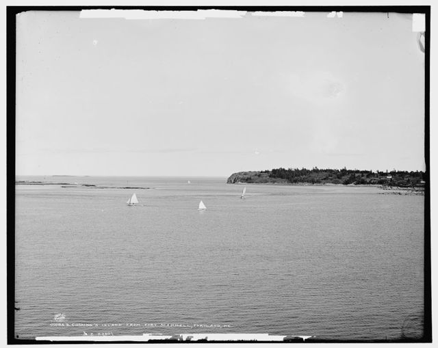 Cushing's Island from Fort Scammell, Portland, Me.