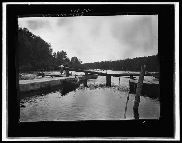 [Dam and lock, Saranac River, Adirondack Mtns., N.Y.]