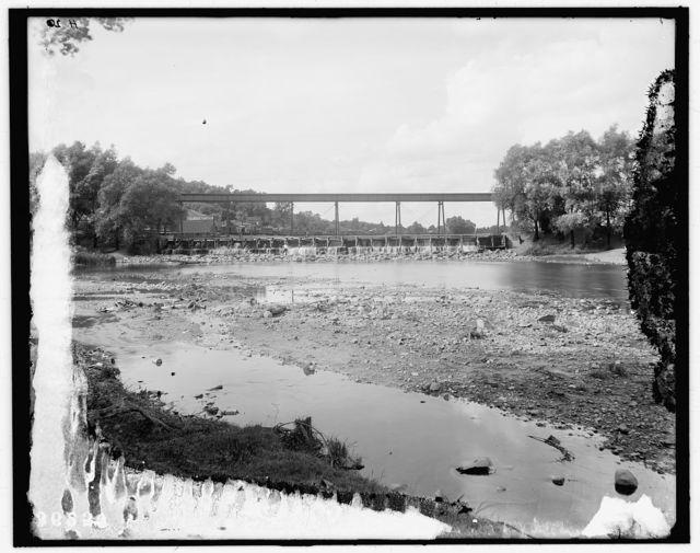 [Dam and railroad trestle, Ann Arbor, Mich.]