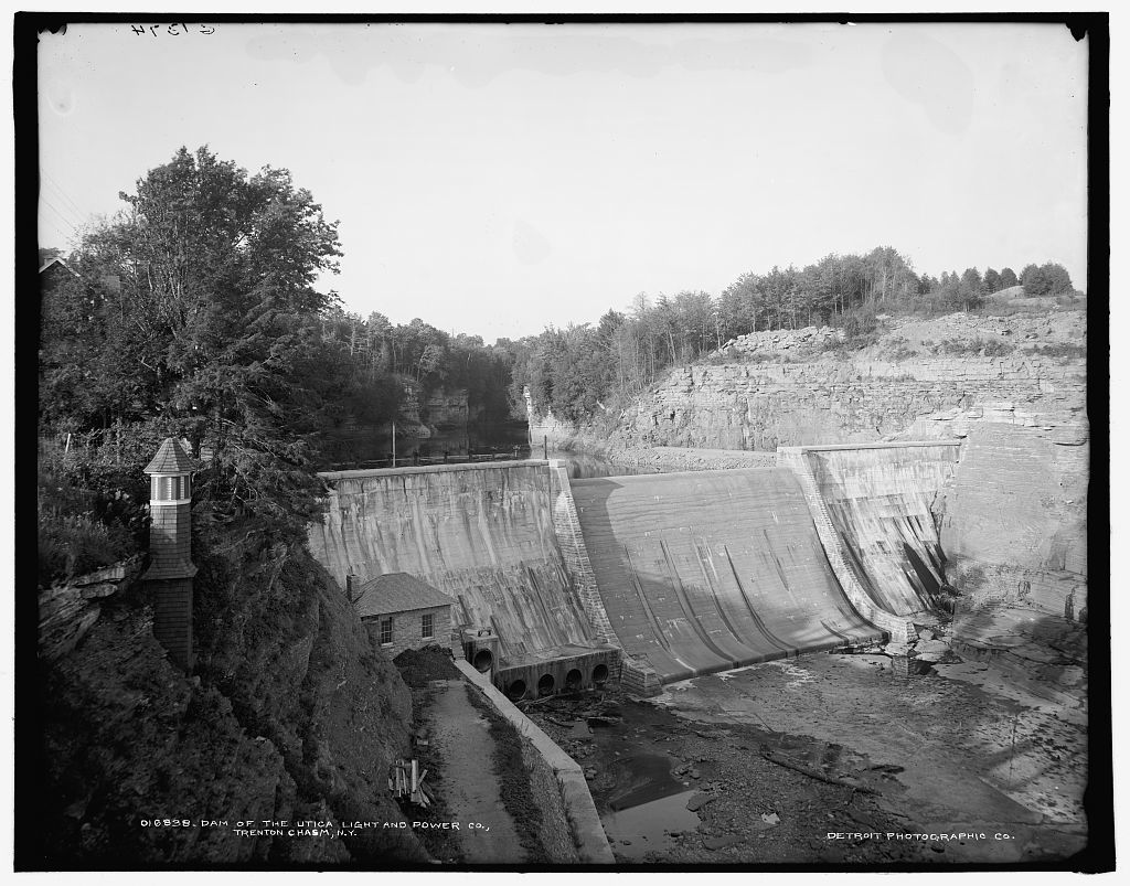 Dam of the Utica Light and Power Co., Trenton chasm, N.Y.