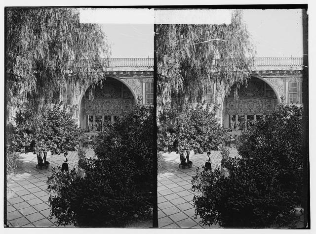 Damascus (Esh-Sham). Courtyard of a wealthy Damascene's house