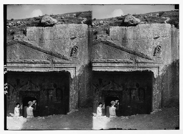 Damascus Gate and environs. Details of ornaments on Tombs of the Judges