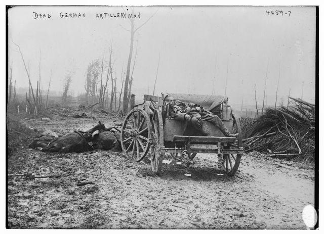 Dead German Artilleryman