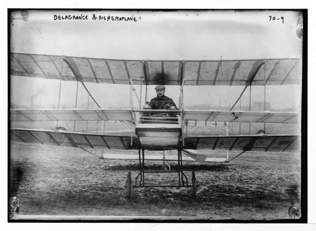 Delagrance and his aeroplane