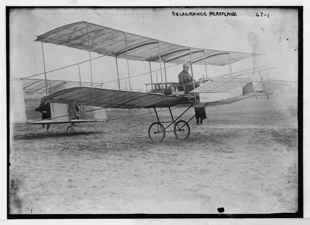 Delagrange in his aeroplane